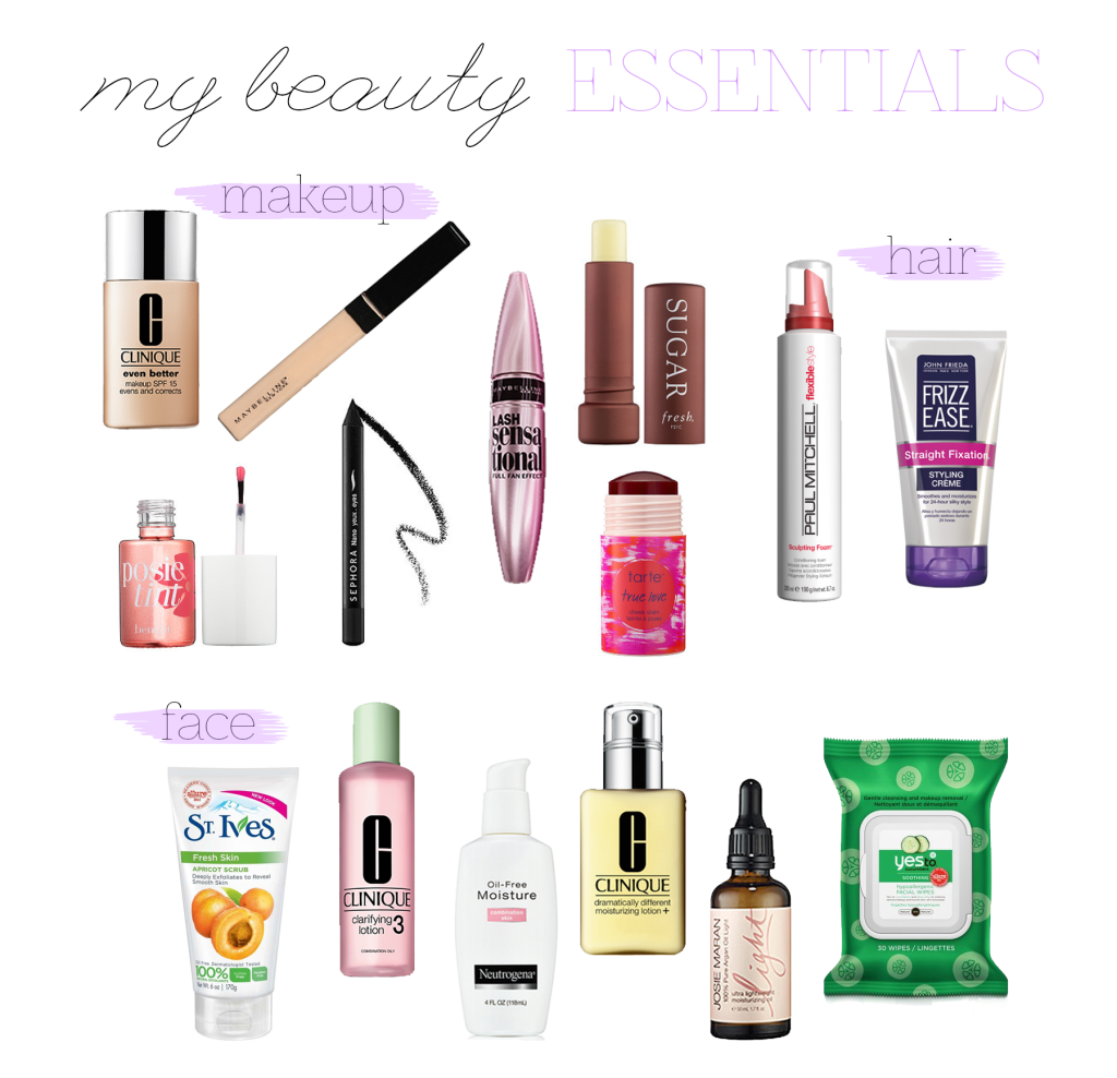 my beauty essentials