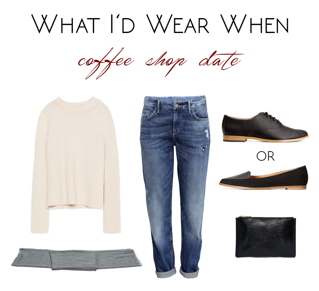what i'd wear when- coffee shop date