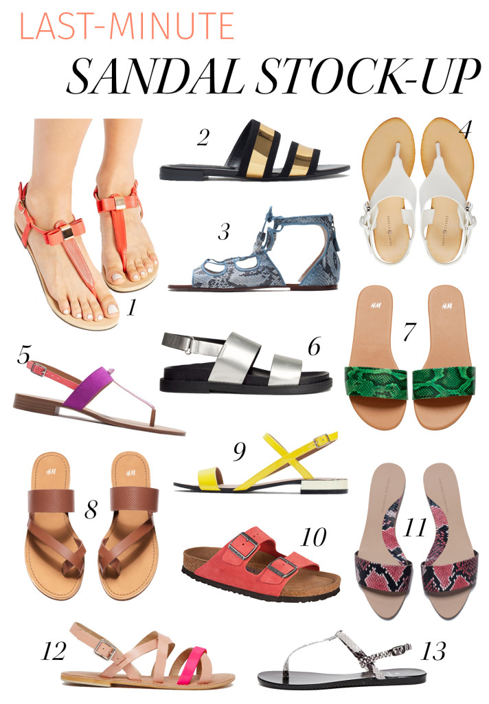 sandal stock-up