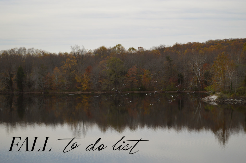 fall to do list